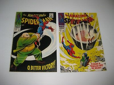 Amazing Spiderman Comic Book Lot Issue # 60 61 62 63 & 64  Vintage Silver Age