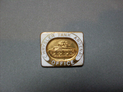 Chrysler Tank Arsenal Office Worker Employee Badge