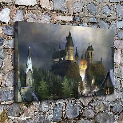 """12""""x20""""Fantasy castle HD Canvas Prints Painting Home Decor Room Wall Art Poster"""