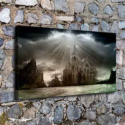 """12""""x22""""Castles Fantasy HD Canvas Prints Painting Home Decor Wall Art Poster"""