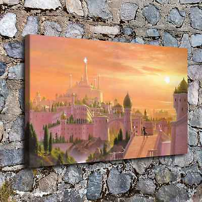 Castles Fantasy HD Canvas Prints Painting Home Decor Room Picture Wall Poster