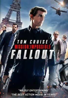 Mission Impossible:fallout ( New Sealed 2018 Dvd Release) Free Shipping...