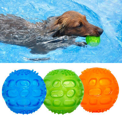 Aggressive Chew Toys for Large Dogs Indestructible Rubber Floating Squeaky Ball