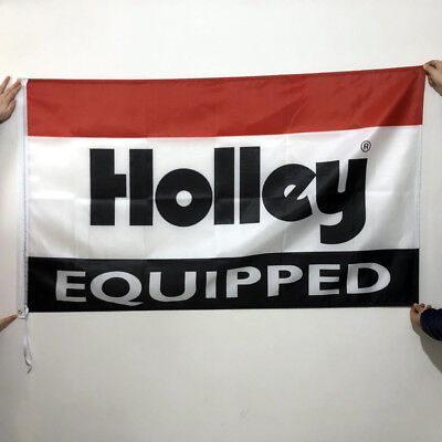 Holley Equipped Flag Banner3x5ft American Auto Parts Car Wall Garage2Grommet/256