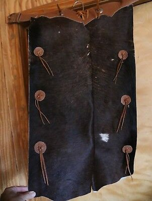 Native American Cowhide Chaps by Sheands Texas Cherokee Signed & Numbered