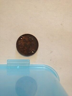 Wow A 1840 Russia 1 Kolpeck Serebrom Coin, Sorry For The Holes.