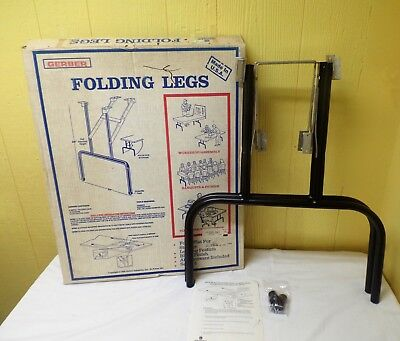 Vtg NOS New In Box Gerber Metal Folding Table Furniture Legs Replacement Part