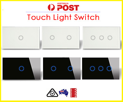 Light Touch Switch Sensor 1, 2 & 3 GANG Black 1 and 2 Way Almost Gone!