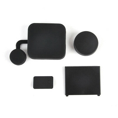 For GoPro Hero 3+ 4 Housing Lens Cap Camera Battery Cover Side Door Accessory