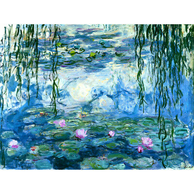 Claude Monet Water Lilies HD Canvas Print Painting Wall Decor Multi Sizes#M102