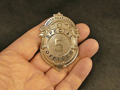 South Charleston W. Va. Special Police Officer #5 Badge Over 75 Yrs Old
