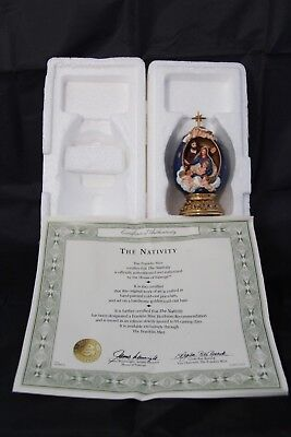 Franklin Mint House of Faberge THE NATIVITY Christmas Egg w/COA Baby Jesus Mary