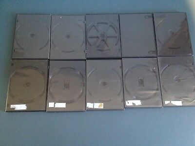 Lot of Ten Empty Double DVD Storage Replacement Cases Pre Owned