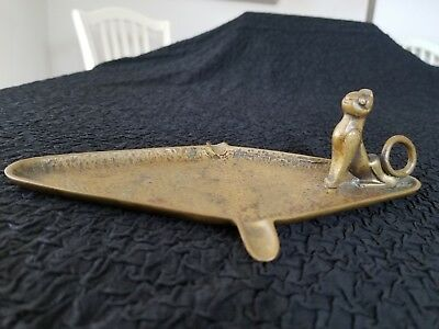 Cat Ashtray Bronze Art Deco Style Egyptian Revival Antique Piece of Art