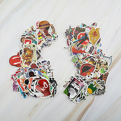 100pcs Waterproof Graffiti Stickers Decal for Luggage Suitcase Laptop PC Bike