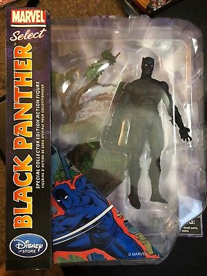Disney Store Exclusive Marvel Select Black Panther Action Figure Collectible