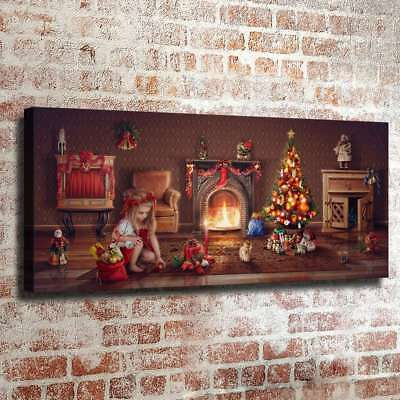 """12""""x30""""Christmas HD Canvas Prints Painting Home Decor Picture Wall Art Poster"""