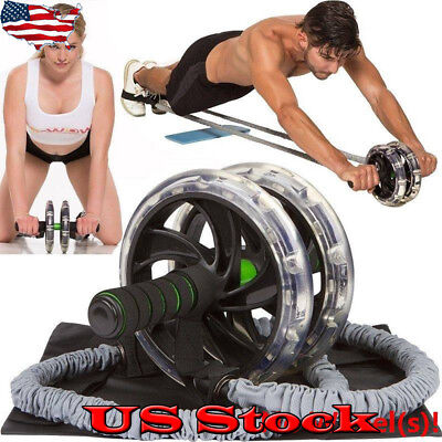 2733ac525f Ab Roller Wheel Pull Rope Waist Abdominal Slimming Fitness Exercise  Equipment