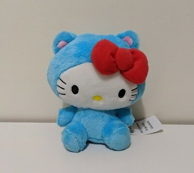 "NEW 6"" INCH Sanrio Hello Kitty Blue Cat Plush Doll Japan Doll Round 1 Arcade"