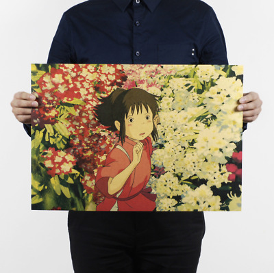 Spirited Away Poster Vintage Wall Posters Painting for Walls Bedroom Decoration