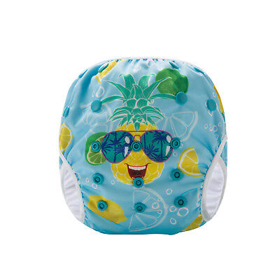 Cool Pineapple Swim Cloth Nappy - washable reuseable swimmer adjustable baby