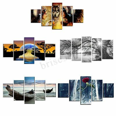 5Pcs Set Modern Canvas Print Painting Wall Art Picture Home Decoration Unframed