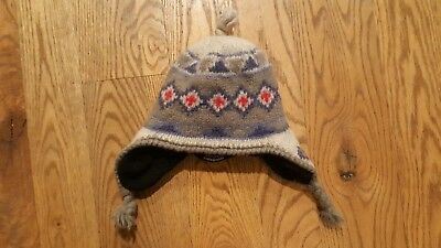 bd59268c Rare Kids size S/M Patagonia Merino Wool Blend Winter Hat Fleece Lined ski  snow
