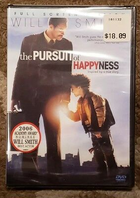 The Pursuit Of Happyness DVD Full-screen Will Smith BRAND NEW & SEALED