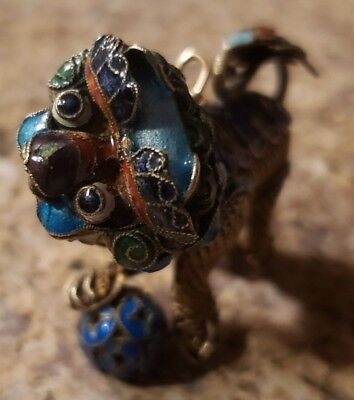 Vintage Chinese Necklace Pendant Dragon