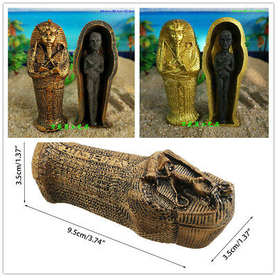 Resin Ancient Egyptian Coffin Figurine Sculpture Egypt Mummy Statue Home Decor