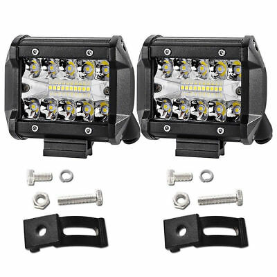 2x 4inch 200W LED Work Flood Spot Light Off Road Car Truck Boat SUV Driving Lamp