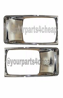 International Truck 3800 4700 4800 4900 Headlight Bezel Pair Chrome - 2piece