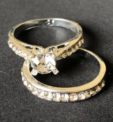 Beautiful wedding and engagement ring set.  Created white gold and diamond style