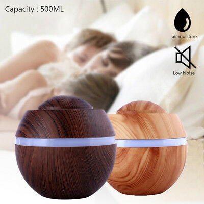 500ml LED Essential Oil Humidifier Aroma Air Aromatherapy Diffuser Cool Mist New