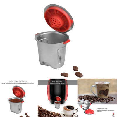Stainless Steel Coffee Capsule Cup Reusable Refillable Pod for Keurig K Cup Pod