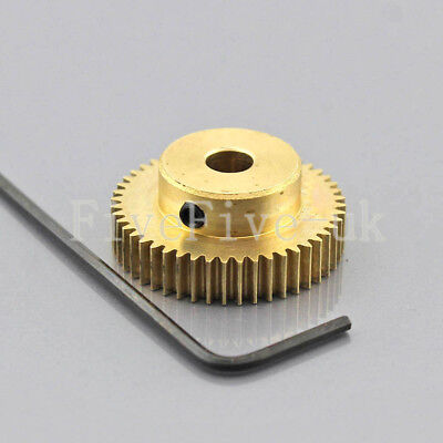 0.5M50T 3-12mm Bore Hole 50Teeth Module 0.5Motor Metal Gear Wheel with Top Screw