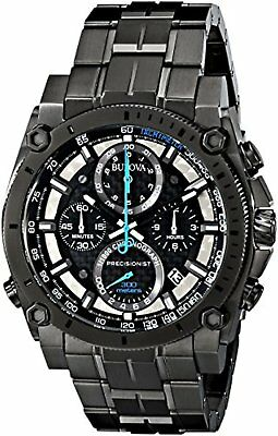 Bulova Men's 98B229 Precisionist Analog Display Japanese Quartz Grey Watch