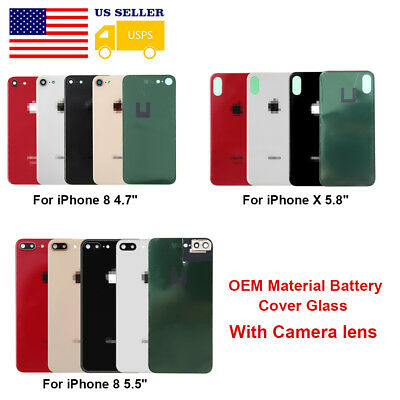 OEM Battery Glass Cover Housing Back Door Replacement Case For iPhone 8 Plus X
