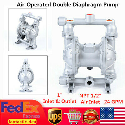 """Air-Operated Double Diaphragm Pump QBK-25L 29-115PSI 1"""" Inlet and Outlet US Sale"""