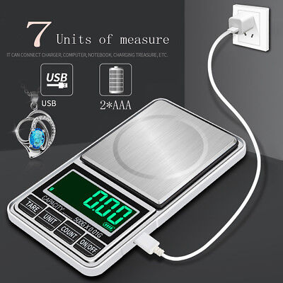 Pocket Digital Scales Jewellery Gold Weighing Mini LCD Electronic 0.1g   0.01g