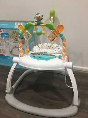Fisher Price Baby Fun Jumping Joy Colourful Carnival SpaceSaver Jumperoo Lights