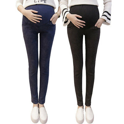 Women Pregnant Over The Belly Stretchy Maternity Skinny Pants Jeans Nice