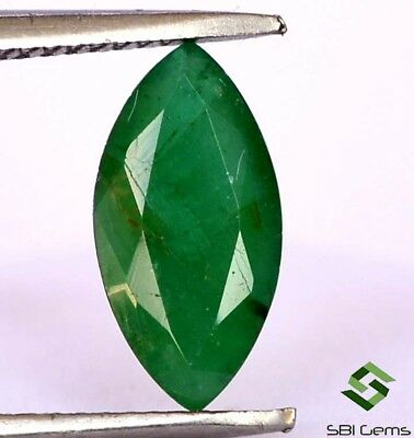 Certified Natural Emerald Marquise Cut 10x5 mm 1.10 Cts Untreated Loose Gemstone