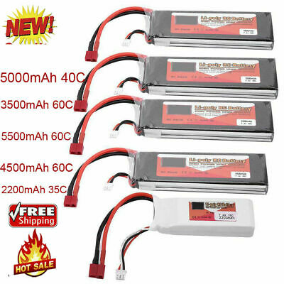 ZOP POWER 2S 7.4V 5500mAh 60C Rechargeable LiPo Battery T-Plug For RC Car Boat