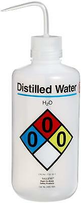2425-1005 LDPE Right-To-Know Distilled Water Safety Wash Bottle, 1000mL Capacity