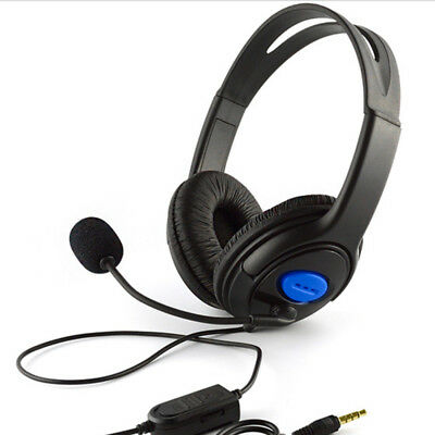 Wired Gaming Headset Headphones with Microphone for Sony PS4 PlayStation 4 MX