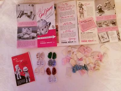 1950s Vogue Ginny & Cosmopolitan Ginger Accessories Shoes Socks & Booklets