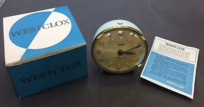Vintage Westclox Alarm Clock, Mechanical, Made In U.S.A , Old Stock Brand New