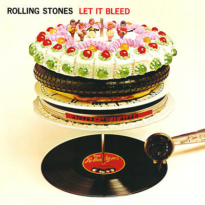 "The Rolling Stones Let It Bleed Poster 32x32"" 24x24"" Album Cover Fabric Print"