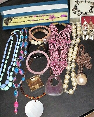 Job Lot Of Mixed Vintage & Modern Costume Jewellery Good Wearable Condition